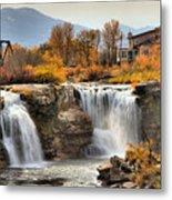 Autumn At Lundbreck Falls Provincial Park Metal Print