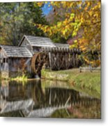 Autumn At Mabry Mill Metal Print