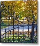 Autumn At The Gates Of Lafayette Park Portrait Metal Print