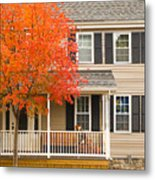 Autumn At The Inn Metal Print