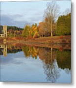 Autumn At The Old Stone Church Metal Print by Luke Moore