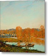 Autumn Banks Of The Seine Near Bougival Metal Print