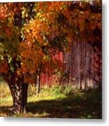 Autumn Barn Metal Print