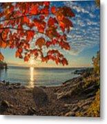 Autumn Bay Near Shovel Point Metal Print