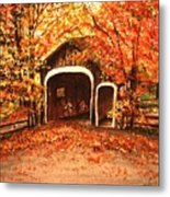 Autumn Bike Ride Metal Print