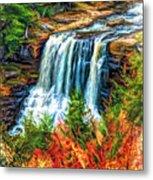Autumn Blackwater Falls - Paint 3 Metal Print