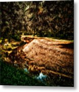 Autumn By The Creek Metal Print