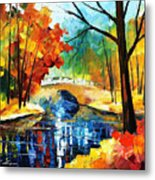 Autumn Calm 2 - Palette Knife Oil Painting On Canvas By Leonid Afremov Metal Print