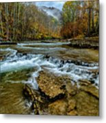 Autumn Cherry Falls Elk River Metal Print