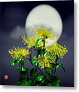 Autumn Chrysanthemums Metal Print by GuoJun Pan