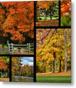 Autumn Collage Metal Print