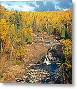 Autumn Color Along Beaver River Metal Print