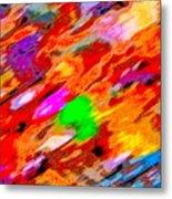 Autumn Color Blurs 144 Metal Print
