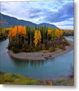 Autumn Colors Along Tanzilla River In Northern British Columbia Metal Print