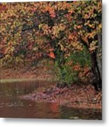 Autumn Colors By The Pond Metal Print