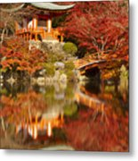 Autumn Colours At Daigo-ji Temple In Kyoto In Japan Metal Print