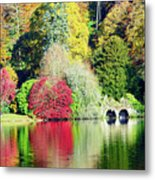 Autumn Colours By The Lake Metal Print