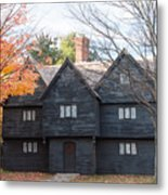 Autumn Comes To The Witch House Metal Print