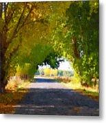 Autumn Country Lane Metal Print