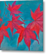 Autumn Crimson Metal Print by William Jobes