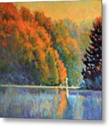 Autumn Day Rising Metal Print