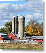 Autumn Elk Farm Metal Print