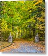 Autumn Entrance 3 Metal Print