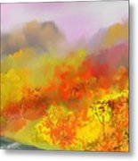 Autumn Expression Metal Print