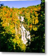 Autumn Falls Metal Print by Tom Zukauskas