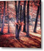Autumn Firelight Metal Print