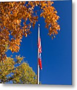 Autumn Flag Metal Print
