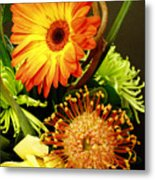 Autumn Flower Arrangement Metal Print