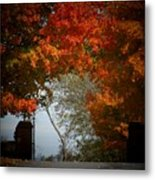 Autumn Gate Metal Print
