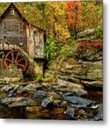 Autumn Glade Creek Grist Mill  Metal Print