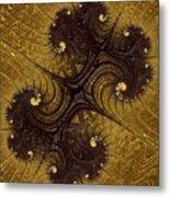 Autumn Glows In Gold Metal Print