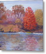 Autumn Hanging On Metal Print