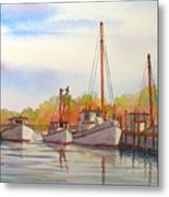 Autumn Harbor Metal Print