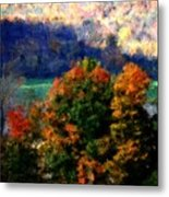 Autumn Hedgerow Metal Print