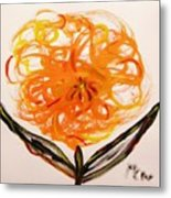 Autumn Hope Flower Metal Print by Mary Carol Williams
