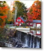 Autumn House At The Falls Metal Print