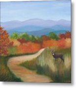 Autumn In Blue Ridge Mountains Virginia Metal Print