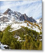 Autumn In French Alps - 18 Metal Print