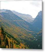 Autumn In Glacier Metal Print