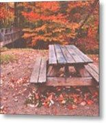 Autumn In High Bridge Metal Print