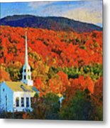 Autumn In New England - 04 Metal Print