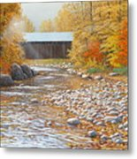Autumn In New England Metal Print by Jake Vandenbrink