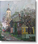 Autumn In Old City Metal Print