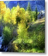 Autumn In Ophir - Colorado - Aspens Metal Print