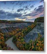 Autumn In The Gorge Metal Print