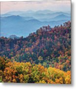 Autumn In The Great Smoky Mountains Metal Print
